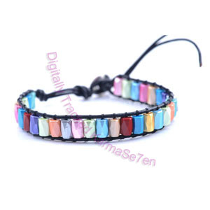 One Row Wrap Bracelet - Rainbow