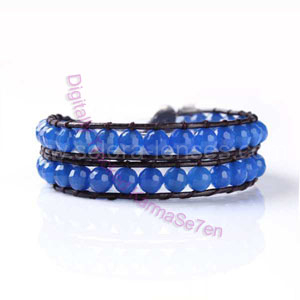 Two Row Wrap Bracelet - Deep Ocean