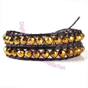 Two Row Wrap Bracelet - Golden Doddess