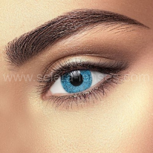 One Tone Sapphire Blue Contact Lenses (1 pair)