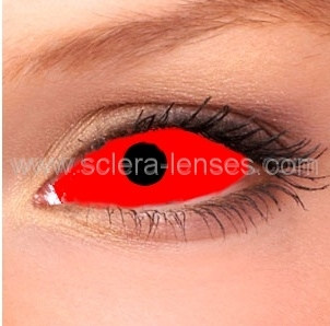 Buy Red Sclera Contact Lenses 1 Pair Online Sclera Lenses