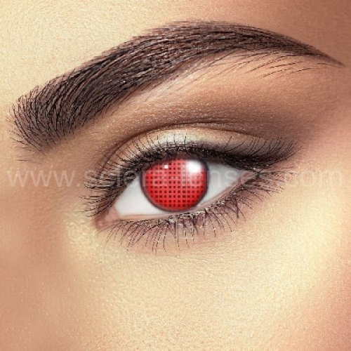 Red Mesh Contact Lenses (1 pair)