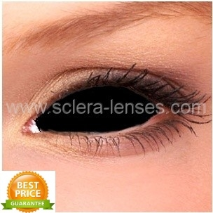 Buy Black Sclera Contact Lenses 1 Pair Online Sclera