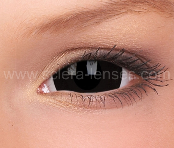 Eye lenses black contact