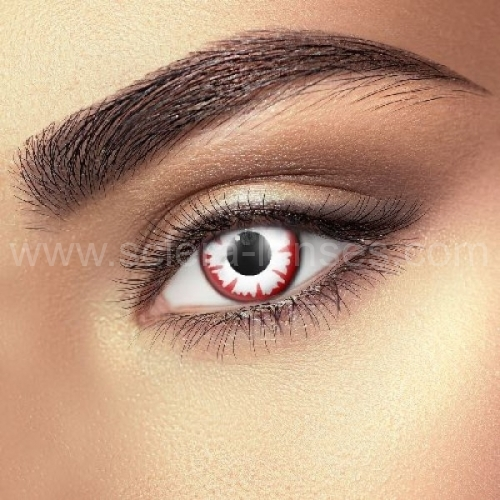 White Demon Contact Lenses (1 pair)